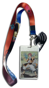 Fairy Tail Lanyard - Fairy Tail Guild Logo /w Natsu & Happy