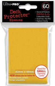 Ultra Pro Card Sleeves Small - Yellow