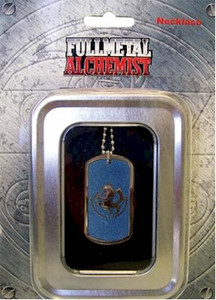 FullMetal Alchemist Necklace Blue Dog Tag