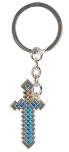 Minecraft Metal Keychain - Diamond Sword Axe