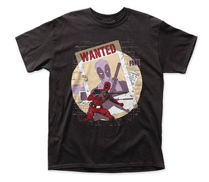 Deadpool T-Shirt Wanted PX (Black)