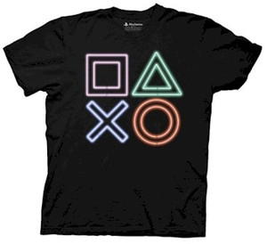 Playstation T-Shirt Vintage Icon (Neon)