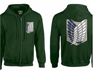 Attack on Titan Zip Hoodie - Survy Corps