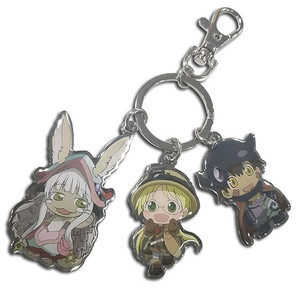Made In Abyss Metal Keychain - Trio