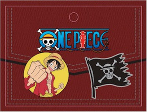 One Piece Pin Set Luffy & Flag