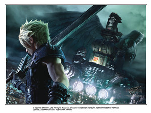 Final Fantasy VII Remake Wallscroll - Cloud & Sephiroth