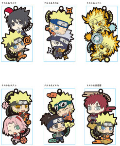 Naruto Shippuden Two-man Cell Rubber Mascot Buddy Colle