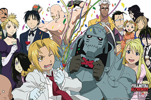 Fullmetal Alchemist Poster - Group Celebration