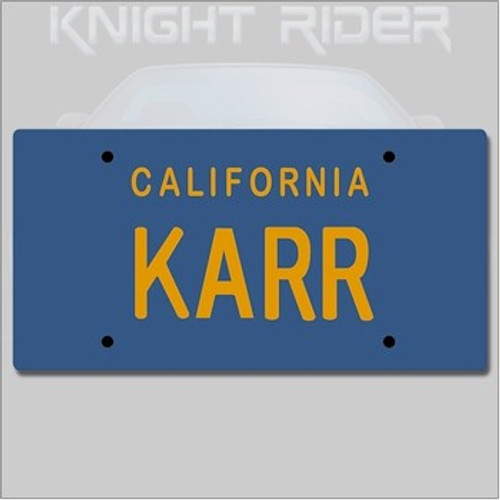 Knight Rider Replica 1/1 KARR License Plate