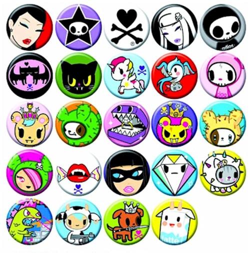 "Tokidoki 1"" Button Pin (Random)"