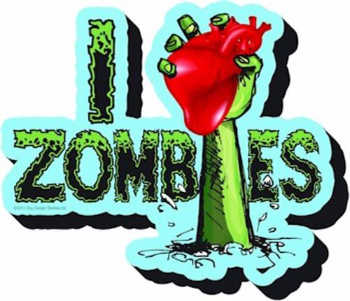 Zombie I Heart Magnet