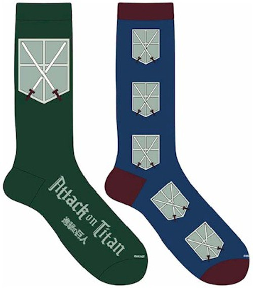 Attack On Titan Crew Socks - Cadet Corps (2-pack)