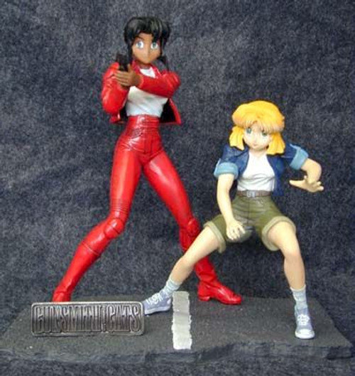 Gunsmith Cats Statue: Rally and Minne-May