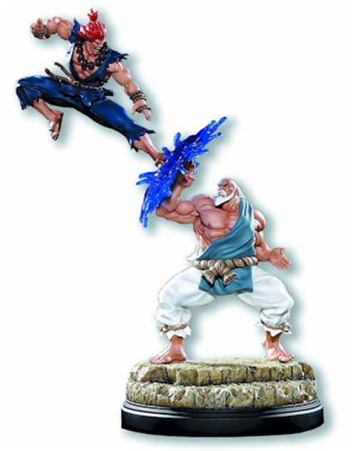 Street Fighter Gouken Vs Akuma Diorama Statue