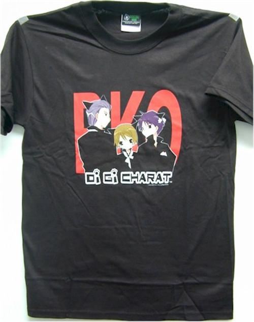 Di Gi Charat T-Shirt Boys in Black (Black)