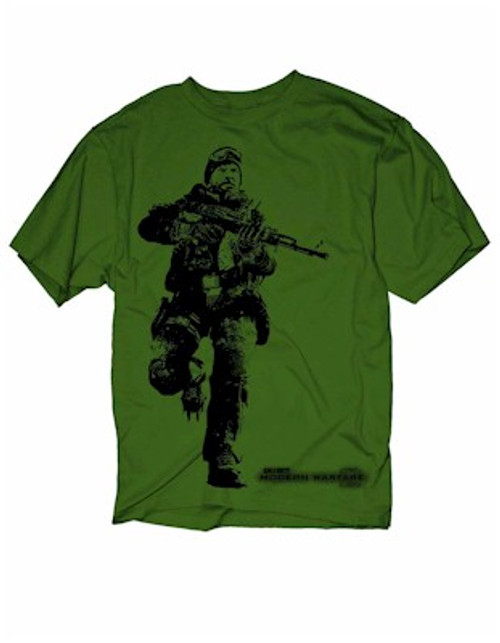 Call of Duty Modern Warfare 2 Cliffhanger T-Shirt (Olive)