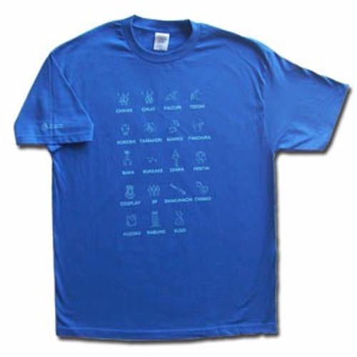 Japanese Bad Words T-Shirt (Royal Blue)
