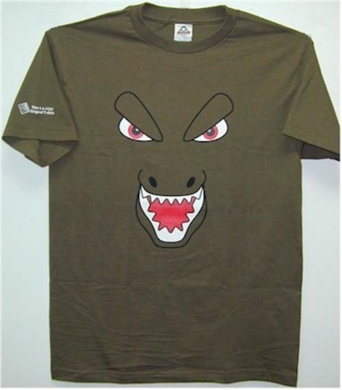 Japanese Monster Parody T-Shirt (Army Green)
