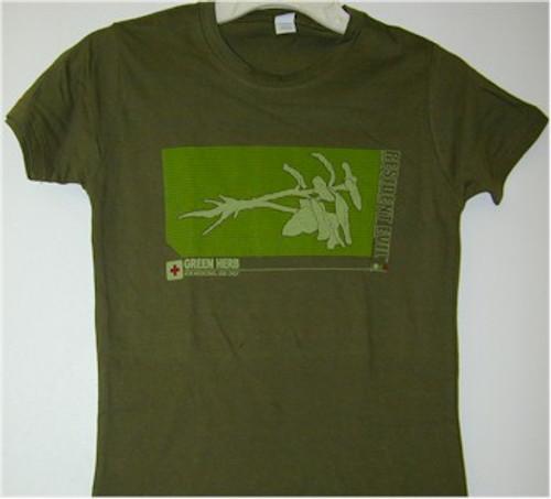Resident Evil Babydoll T-Shirt Green Herb (Green)