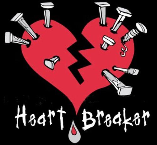 Sugar Hiccup Heart Breaker Babydoll Tee (Black)
