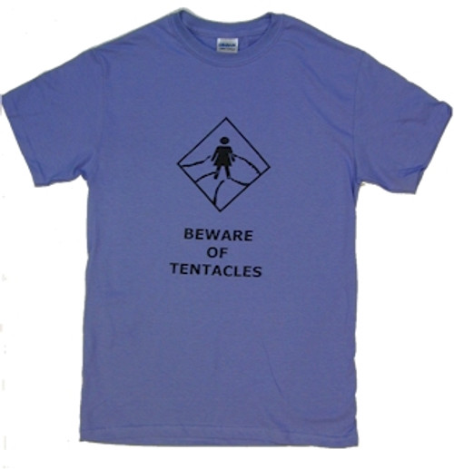 Beware of Tentacles T-Shirt (Purple)