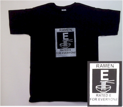 Ramen: Rated E for Everyone T-Shirt (Black)