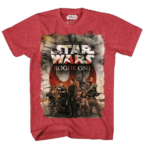 Star Wars: Rogue One T-shirt: Team One Red/Blk Confetti