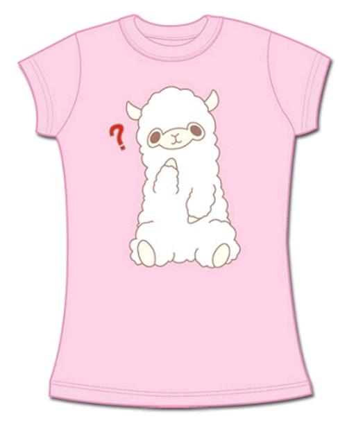 """Llama Babydoll T-Shirt """"Pink)"""