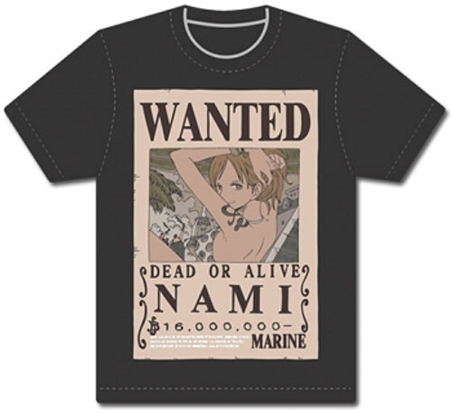 One Piece T-Shirt - Nami Wanted