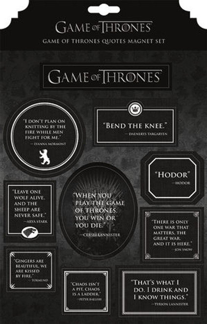 Game of Thrones Magnet Set - Quotes