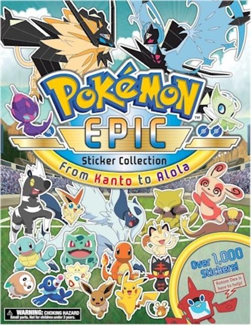 Pokemon Epic Sticker Collection: From Kanto to Alola
