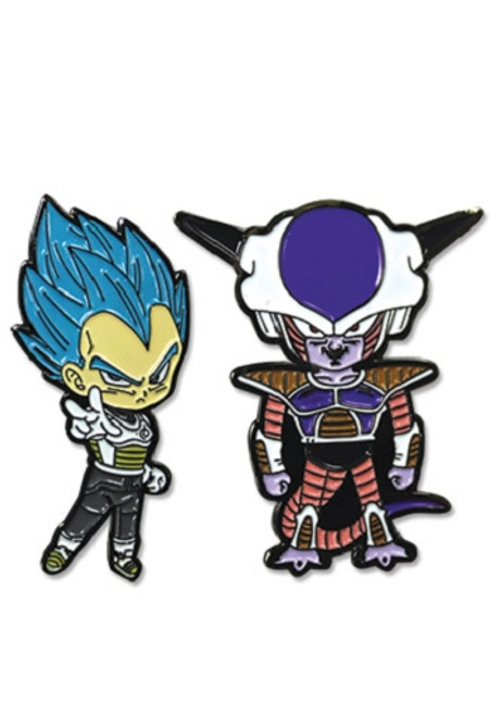 Dragon Ball Super Pin Set - SS Blue Vegeta & Frieza