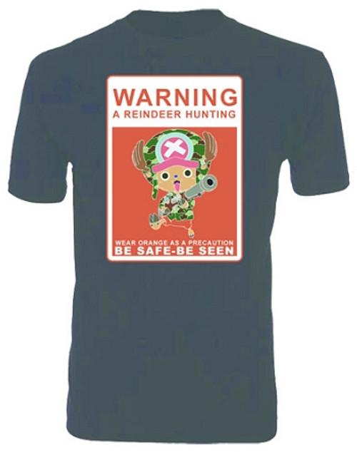 One Piece T-Shirt - Chopper Hunting (Black)