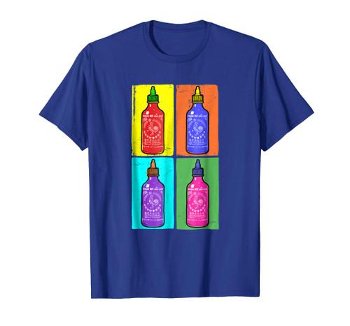Sriracha Hot SauceT-Shirt 4 Panel Color Switch (Grey)