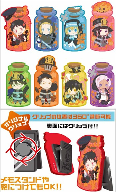 Fire Force Charatoria Rubber Clip (Blind Box)