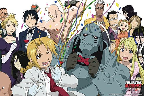 Fullmetal Alchemist Poster - Group Celebration