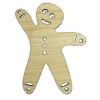 BAXM116 Gingerbread Man - Sustainable Bamboo