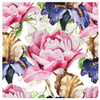 BACS937 Thirsty Coaster Floral Roses and Irises
