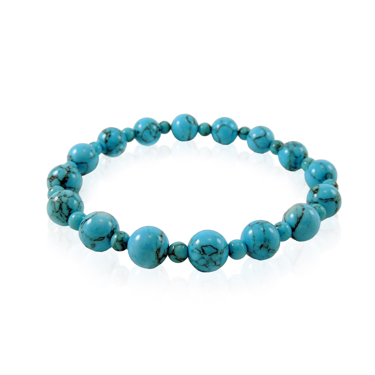 GBTQ-KGB9tq Turquoise Howlite Bracelet