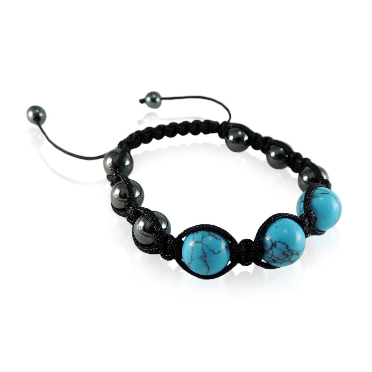 GBTQ-KGB10tq Turquoise Howlite Magnetic Bracelet