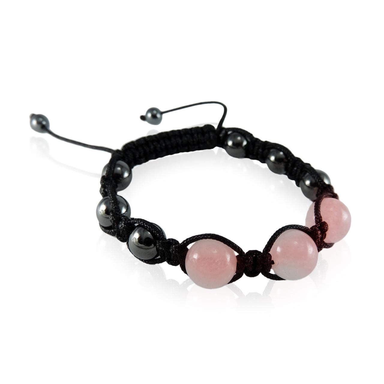 GBR-KGB10r Rose Quartz Magnetic Bracelet