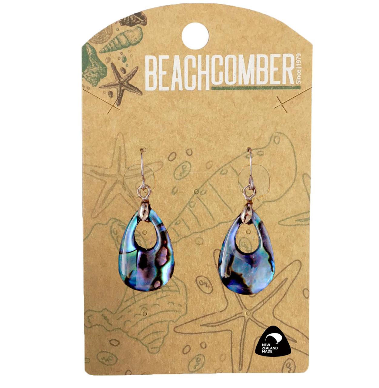 BCJ1559E Paua Earrings Small Teardrop