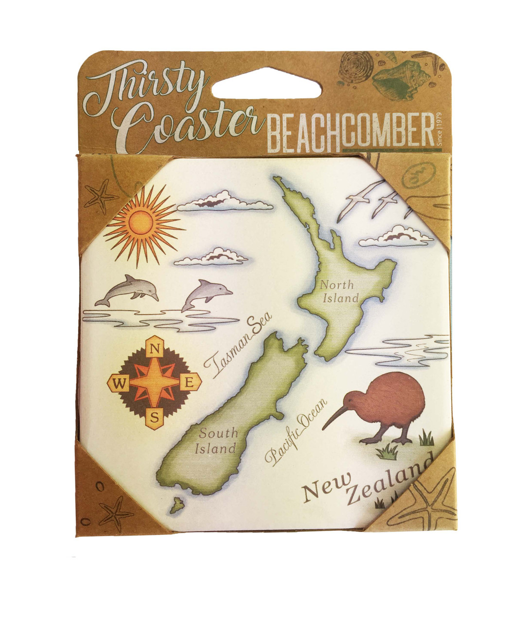 BCCS905 Thirsty Coaster NZ Map Carded