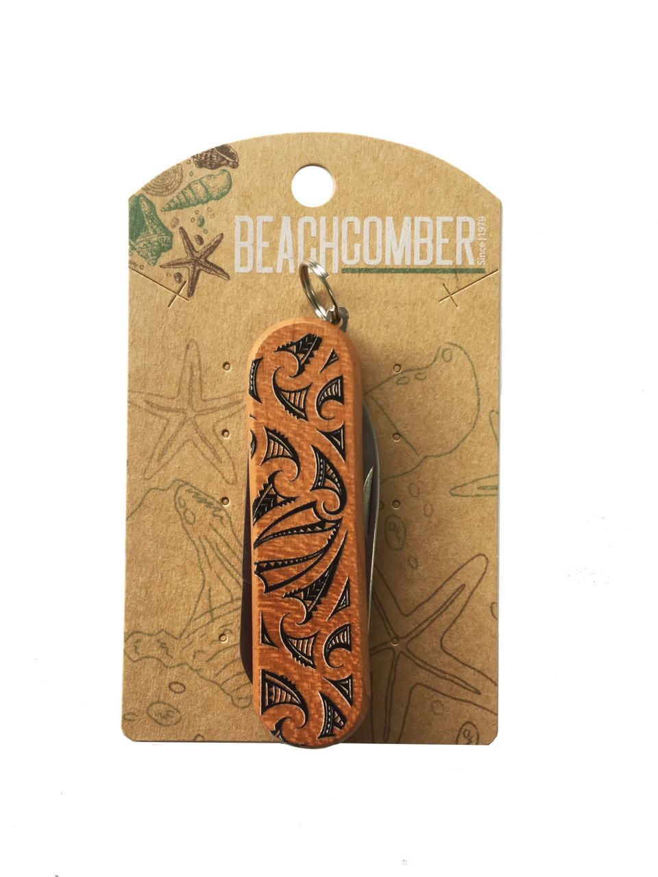 Fruit Knife small with Kowhaiwhai printed on.