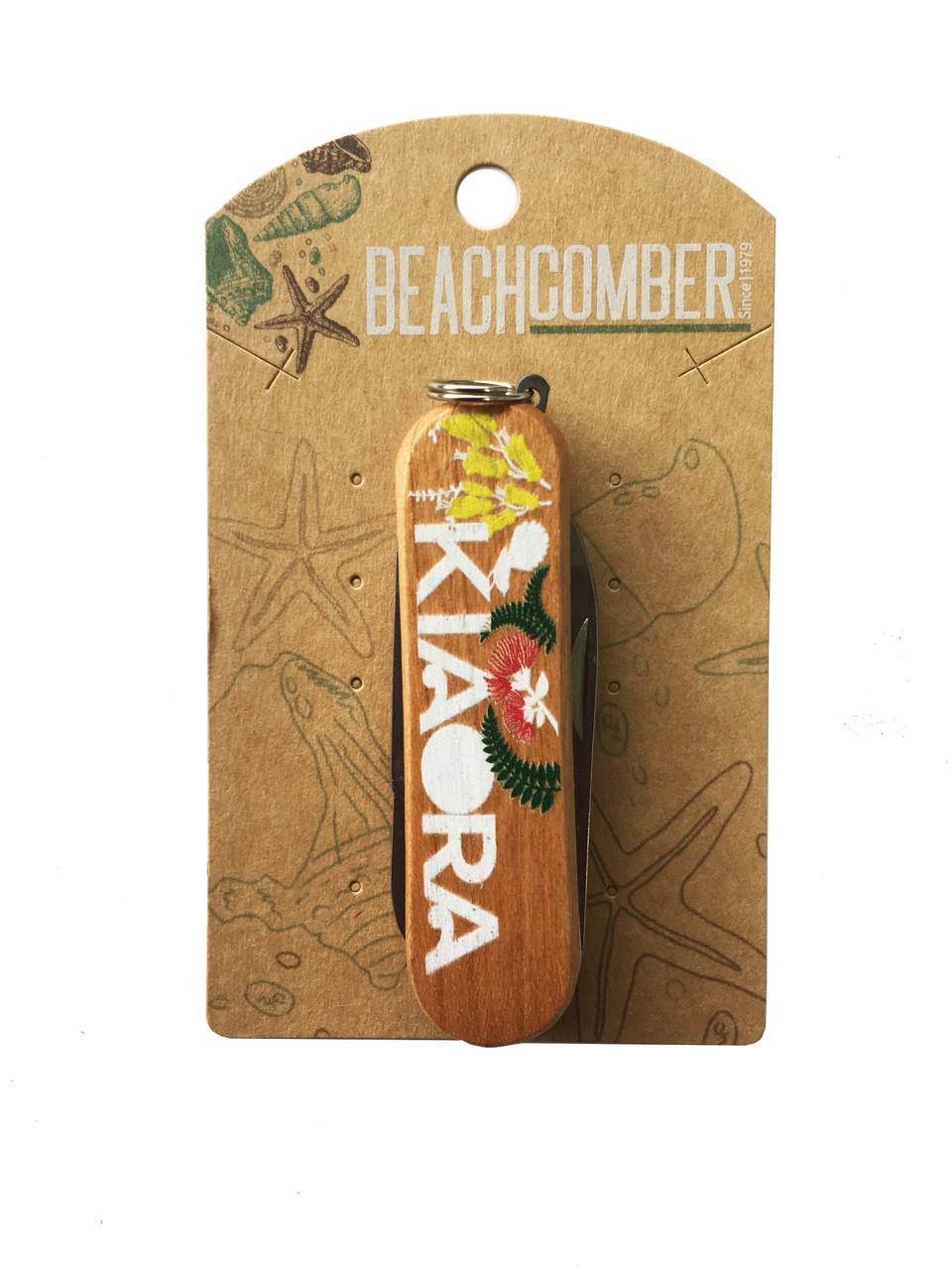 Fruit Knife with Kia Ora printed on.