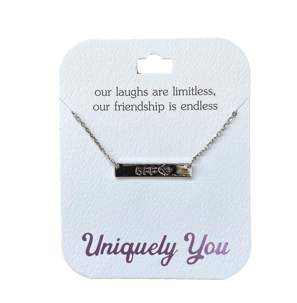 YOU1305 Uniquely You Pendant, Friendship is endless