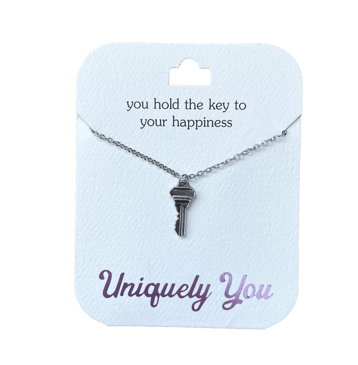 YOU4025 Uniquely You Pendant, Key to happiness