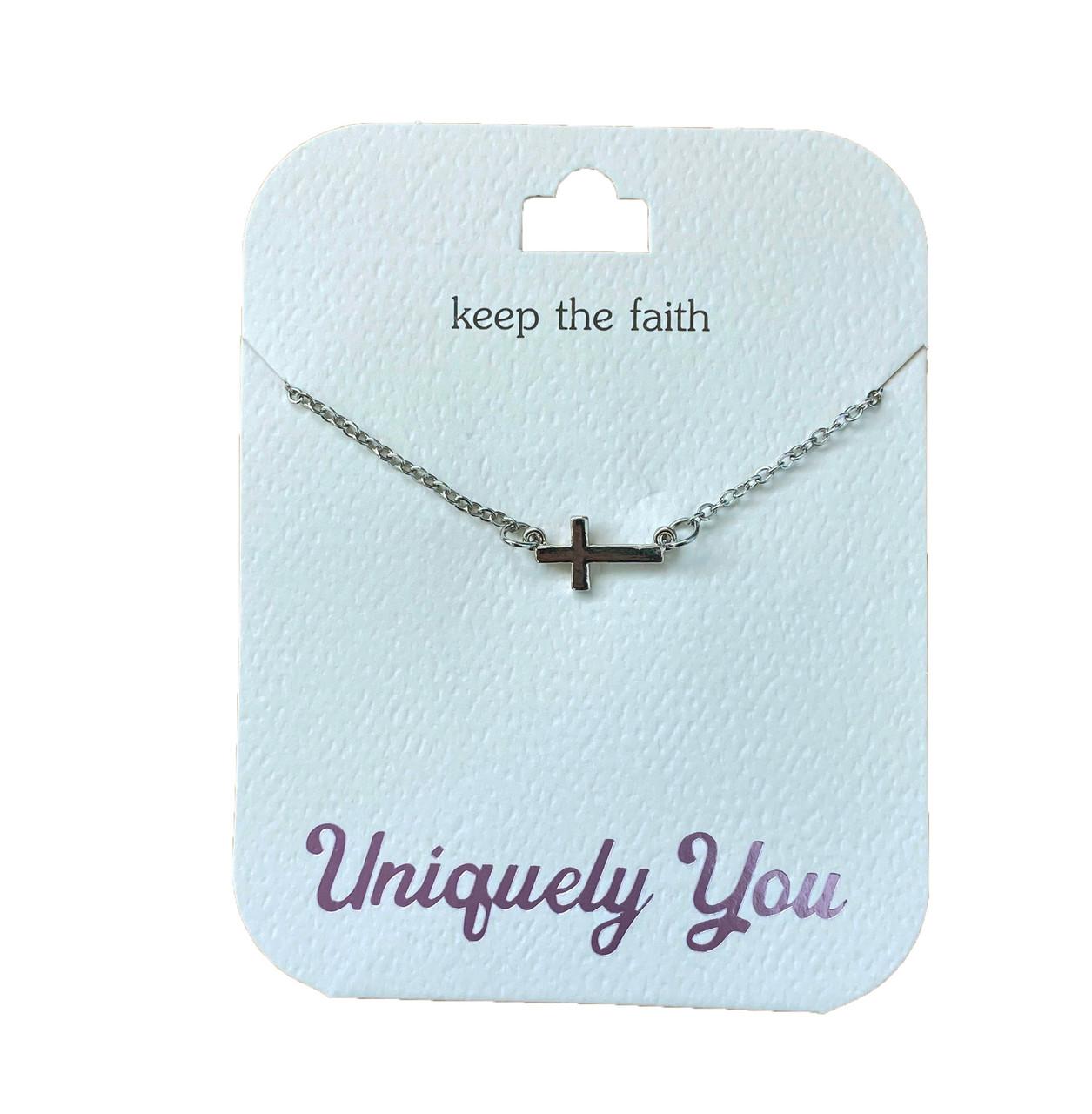 YOU4002 Uniquely You Pendant, Keep the faith