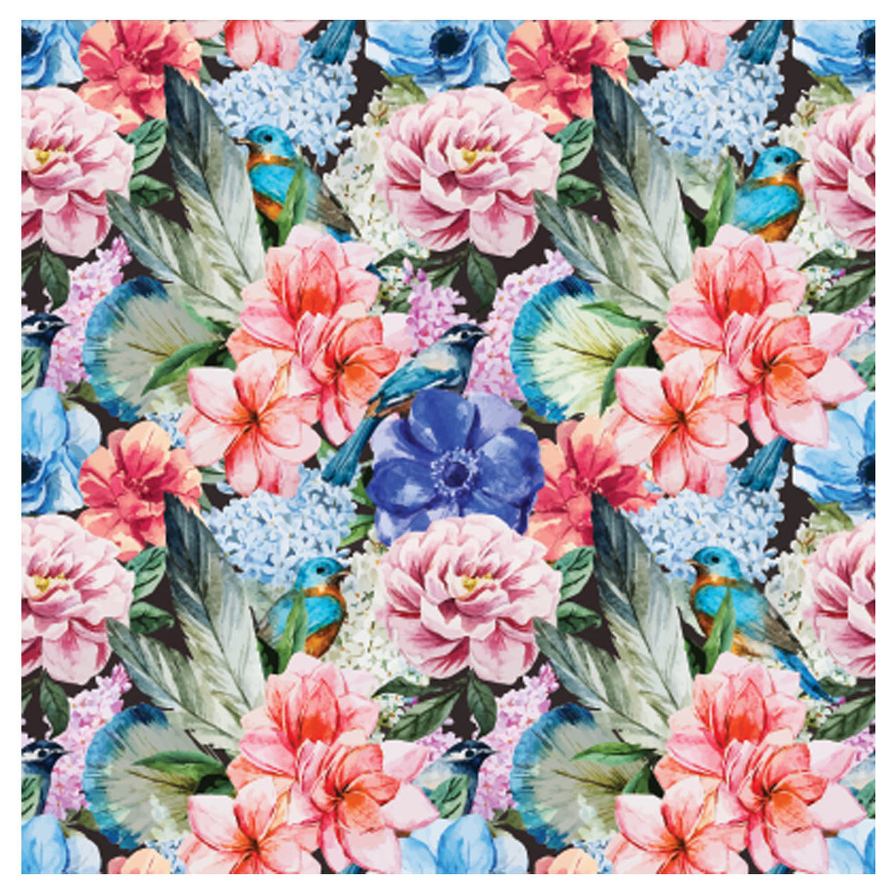 BACS939 Thirsty Coaster Floral Flowers and Birds