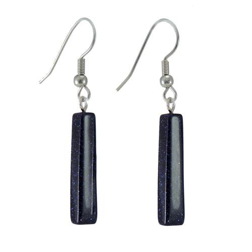 GEB-KGEB1b Bluestone Bar Earrings